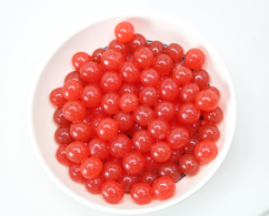 Strawberry popping pearls